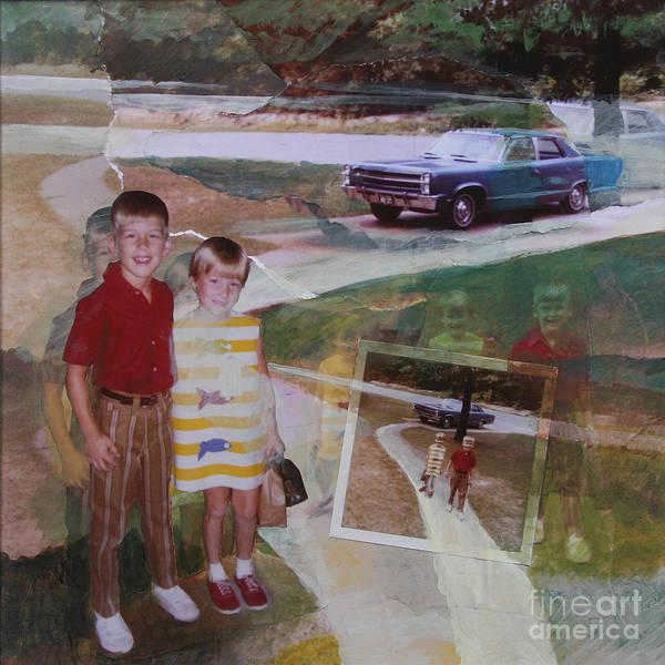 Wall Art - Painting - First Day Of School by Ellen Moore Osborne
