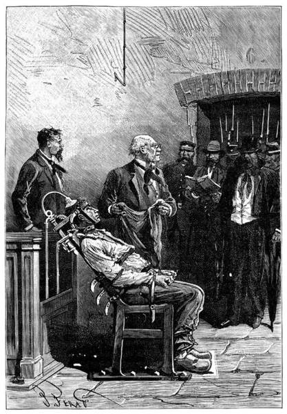 Physique Photograph - First Electric Chair Execution by Science Photo Library