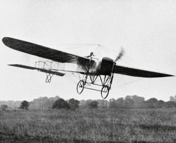 Bleriot Photograph - First Flight Across The English Channel by Science Photo Library