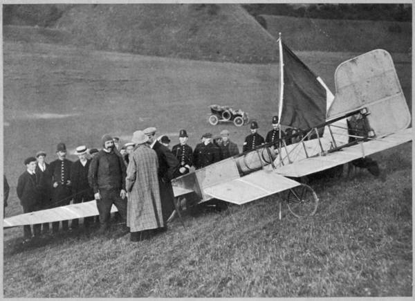 Bleriot Photograph - First Flight Across The  English by Mary Evans Picture Library