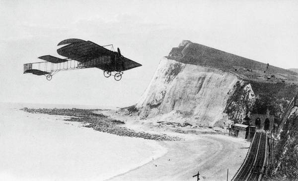 Xi Photograph - First Flight Over English Channel by Cci Archives/science Photo Library
