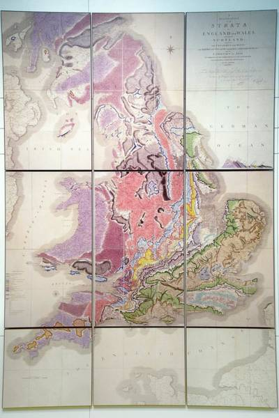 Geologist Wall Art - Photograph - First Geological Map Of Britain by Sinclair Stammers/science Photo Library