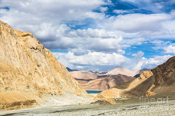 Photograph - First Glimpse Of The Pangong Lake In Lakakh by Didier Marti