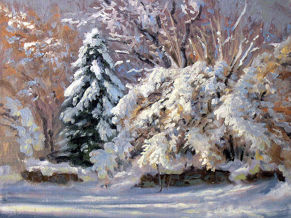 Wall Art - Painting - First Good Snow by Armand Cabrera