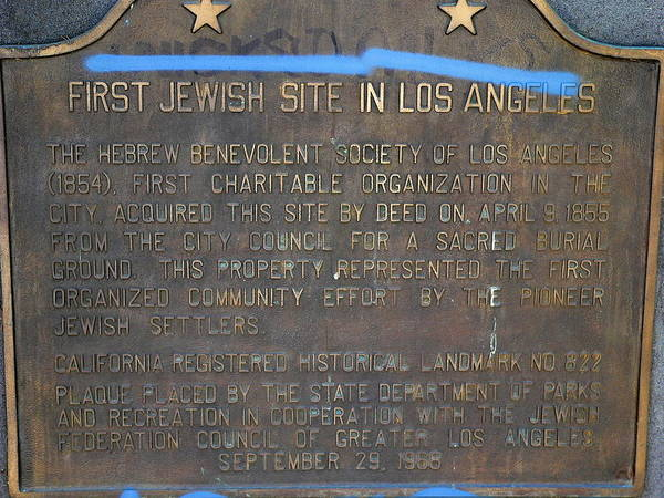 Photograph - First Jewish Site In Los Angeles by Jeff Lowe