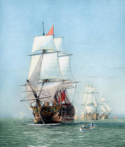 Victory Painting - First Journey Of The Hms Victory by War Is Hell Store