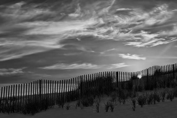 Photograph - First Light At Cape Cod Beach Bw by Susan Candelario