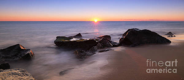 First Light Wall Art - Photograph - First Light At Sandy Hook Nj Pano by Michael Ver Sprill