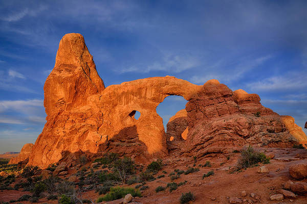 Photograph - First Light At Turret Arch by Greg Norrell