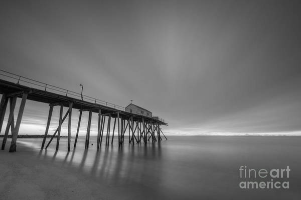 Fire In The Sky Wall Art - Photograph - First Light Bw by Michael Ver Sprill