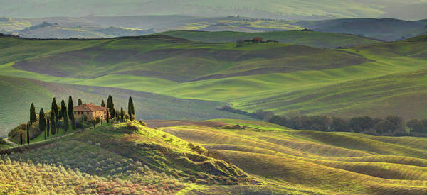 Sunlight Photograph - First Light In Tuscany by Maurice Ford