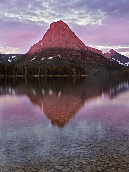 Photograph - Mt Sinopah First Light by John Vose
