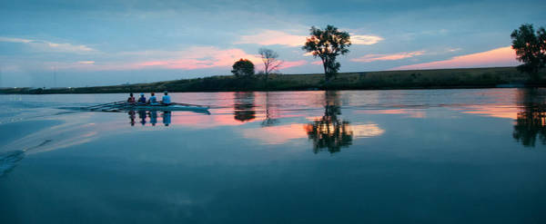Racing Shell Photograph - First Light On The River by Kent Sorensen
