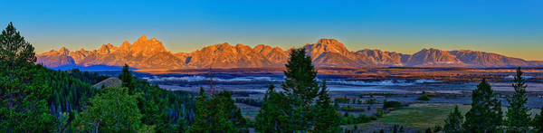 Art Print featuring the photograph First Light On The Tetons by Greg Norrell