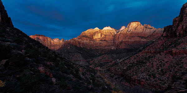 Photograph - First Light Zion National Park by Peter OReilly