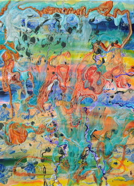 Quantum Physics Painting - First Microseconds by Regina Valluzzi