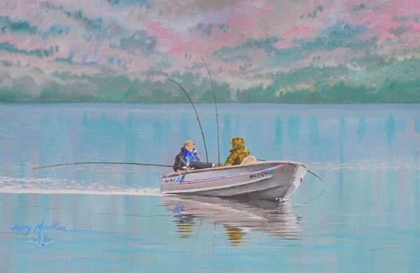 Painting - First Morning Of Ice-out by Harry Moulton