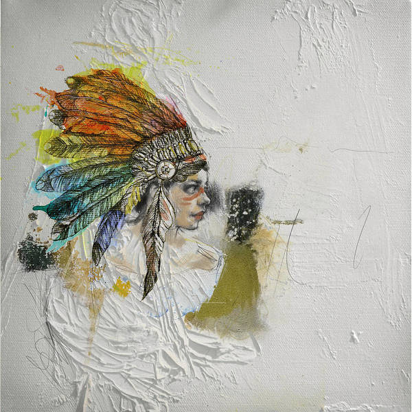 Inuit Painting - First Nations 17 by Corporate Art Task Force