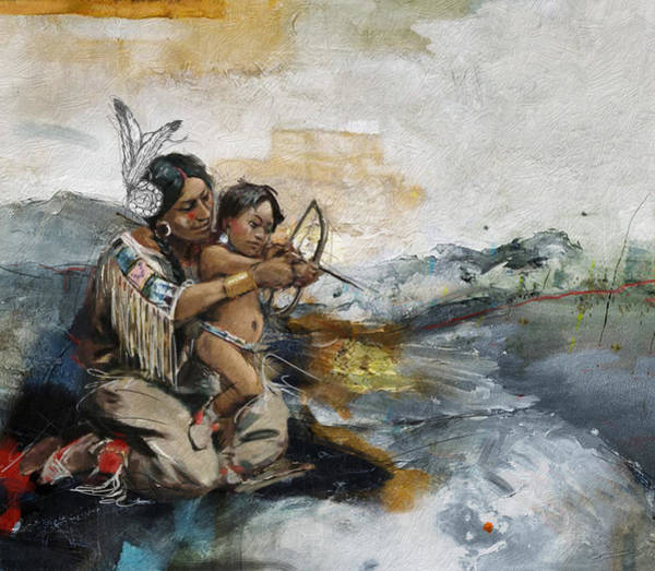 Inuit Painting - First Nations 19 by Corporate Art Task Force