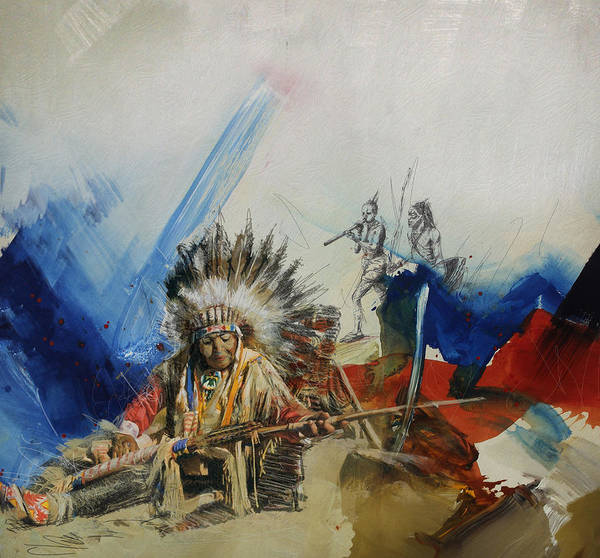 Inuit Painting - First Nations 30 by Corporate Art Task Force