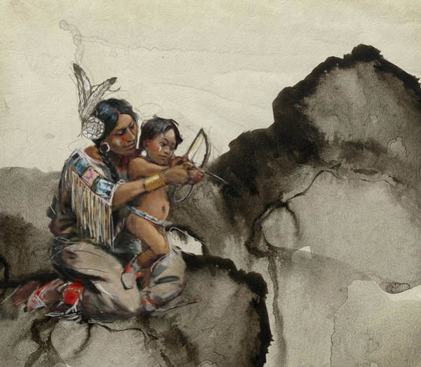 Inuit Painting - First Nations 38 by Corporate Art Task Force