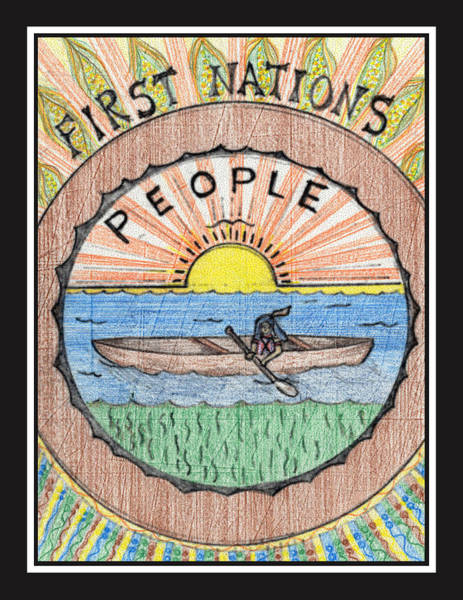 Drawing - First Nations People by Jason Girard