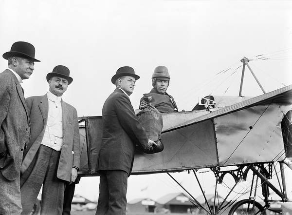 Photograph - First Official Air Mail Flight by Bain Photos