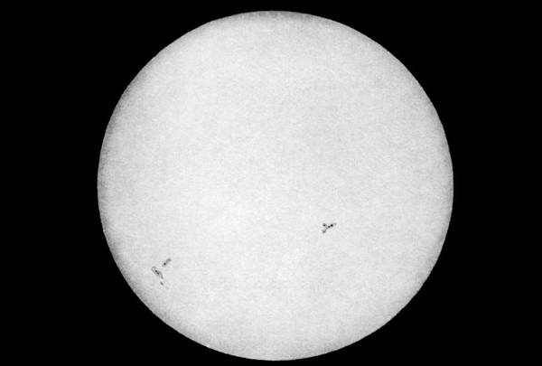 First Star Photograph - First Photograph Of The Sun by Royal Astronomical Society
