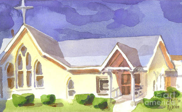 Painting - First Presbyterian Church II Ironton Missouri by Kip DeVore