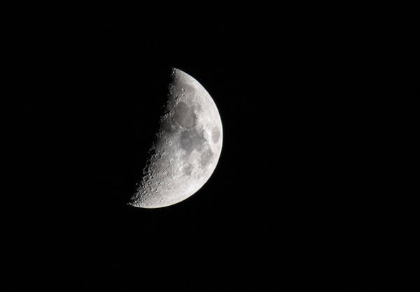 Wall Art - Photograph - First Quarter Moon by Dale Kincaid