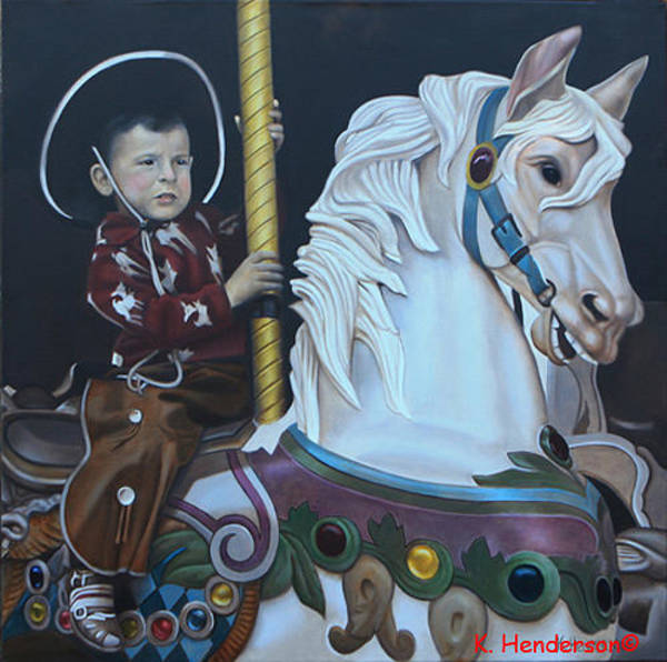 Wall Art - Painting - First Ride By K Henderson by K Henderson