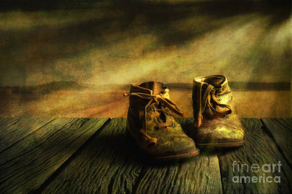 Wooden Shoe Photograph - First Shoes by Veikko Suikkanen