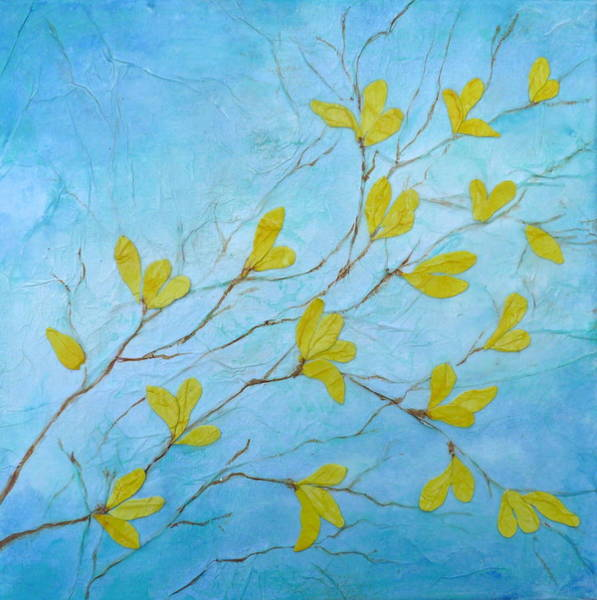 Forsythia Painting - First Signs Of Spring by Carla Parris