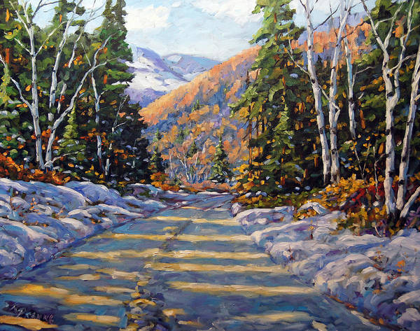 Canadien Painting - First Snow By Prankearts by Richard T Pranke