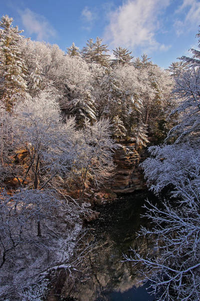 Photograph - First Snow On The Dell Creek by Leda Robertson