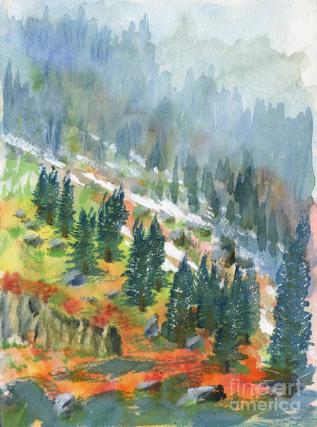 Painting - First Snow by Walt Brodis
