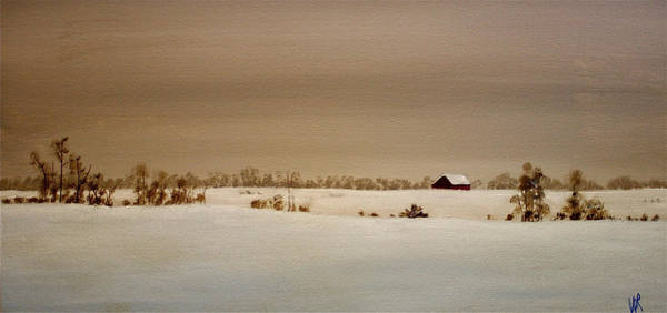 Painting - First Snow by William Renzulli