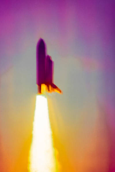 Photograph - First Space Shuttle Launch by Jim DeLillo