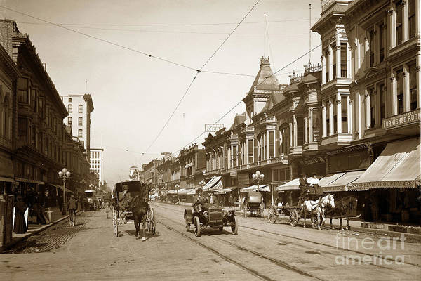 Photograph - First Street Downtown San Jose California Circa 1905 by California Views Archives Mr Pat Hathaway Archives