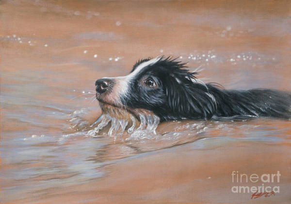 Painting - First Swim by John Silver