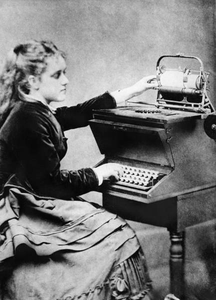 Photograph - First Typist, 1872 by Granger
