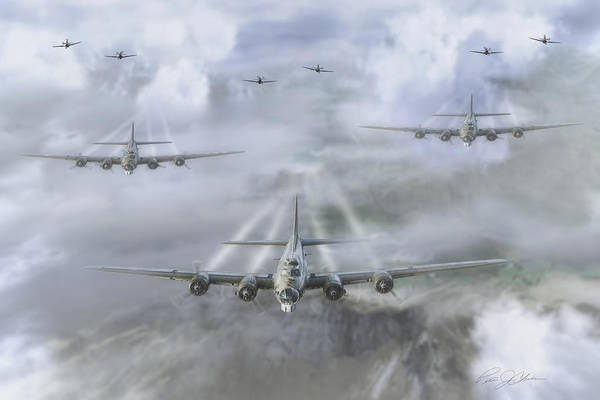 Battle Of Britain Digital Art - First Wave by Peter Chilelli