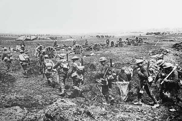 British Armed Forces Photograph - First World War Battlefield by Library Of Congress