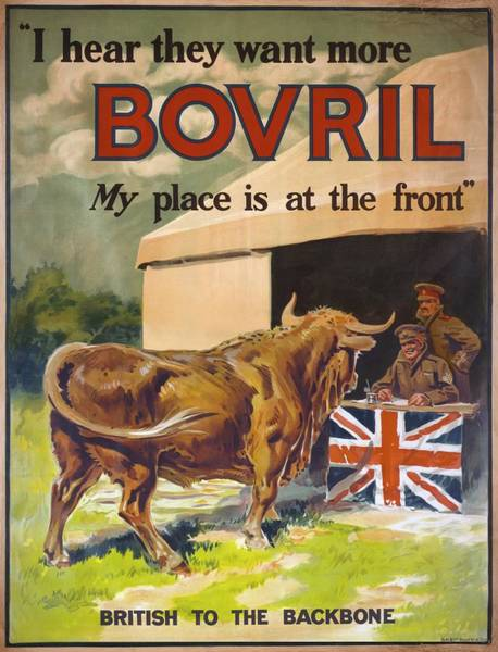 British Food Photograph - First World War Bovril Advert by Library Of Congress