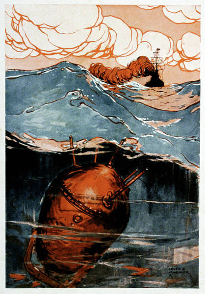 Pay Photograph - First World War Naval Mine by Cci Archives