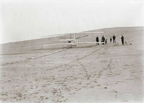 Big Boy Photograph - First Wright Flyer Launch by Library Of Congress