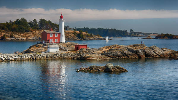 Oceanfront Photograph - Fisgard Lighthouse by Carrie Cole
