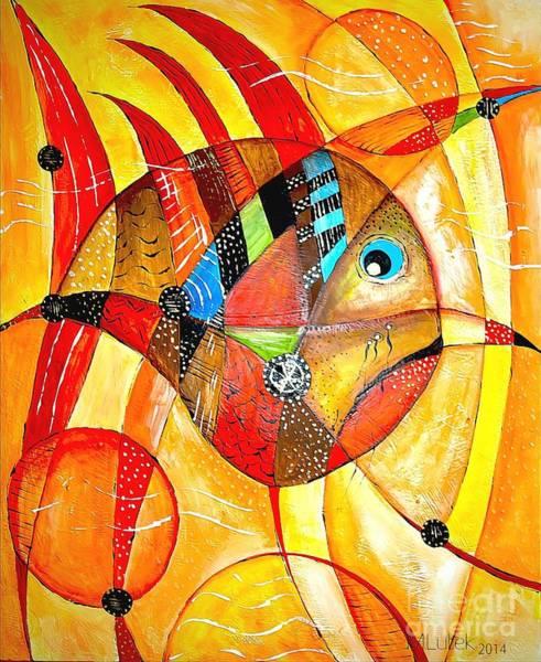 Computer Graphics Painting - Fish 716-14 Marucii by Marek Lutek