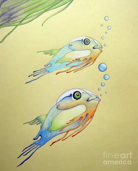 Drawing - Fish by Alexa Szlavics