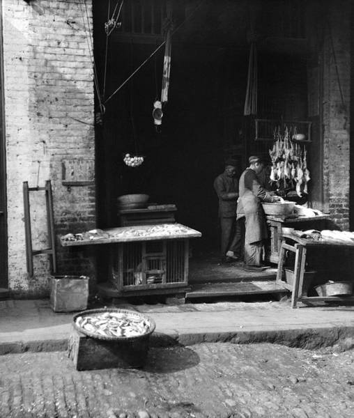 Coolie Photograph - Fish Alley - San Francisco - 1896 by Daniel Hagerman